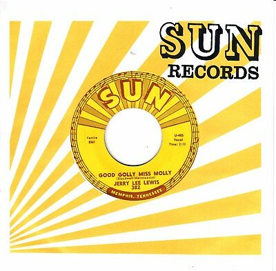 """7""""-  Jerry Lee Lewis  =  Good Golly Miss Molly / I Can't Trust Me"""