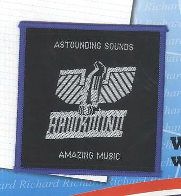 Hawkwind Astounding Sounds vintage 1970s SEW ON PATCH - BLUE border
