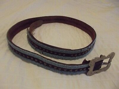 2395. Crow Beaded And Tacked Belt. 1890S