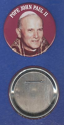 Pope John Paul II vintage 1980s BUTTON BADGE - POSTFREE to UK