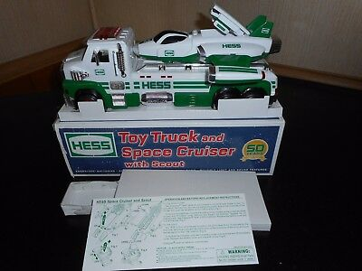 2014 Hess Toy Truck And Space Cruiser With Scout In Excellent Used Condition