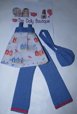 OOAK Nautical Outfit For Mary Quant Daisy Disco Girls Blythe Dolls