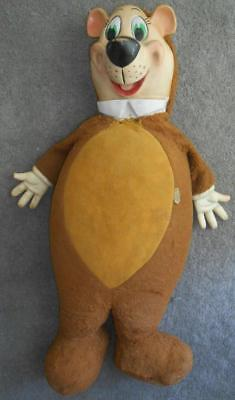 "unusually HUGE rubber face 29"" YOGI BEAR Knickerbocker 1950s plush"