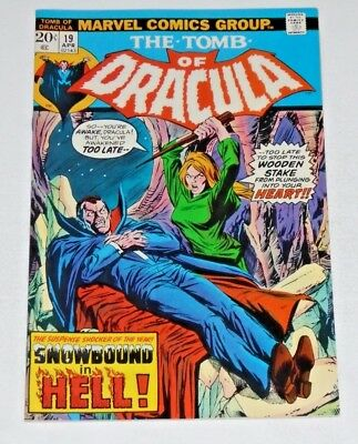 The Tomb Of Dracula #19 comic (VF+) Blade Is Immune To Vampires Bite