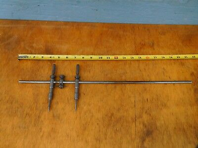 "L.S. Starrett No. 251 BEAM TRAMMEL WITH POINTS 20"" Beam Arm,Vintage, Made In USA"