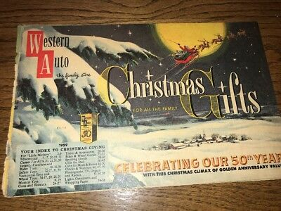 1959 Western Auto Christmas catalog vintage Western Flyer wind up toys
