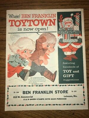 1961 Toytown Christmas catalog vintage trains games toys dolls ornaments