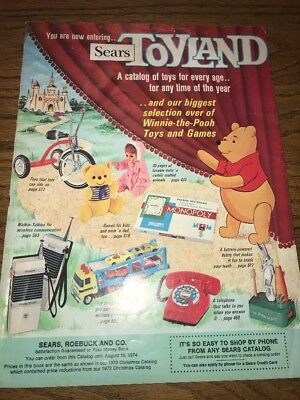 1973 Sears Toyland Christmas Book catalog wishbook Lionel bikes Barbie all toys