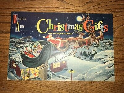 1957 Western Auto Christmas catalog vintage Marx trains Western Flyer bike toys