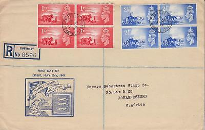 GB 1948 Channel Islands Liberation illustrated FDC Guernsey CDS Cat £30+