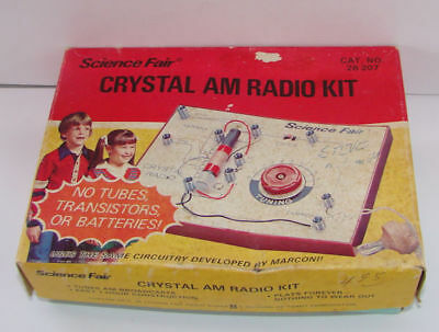 Vintage Science Fair  Crystal Am L Radio Kit With Box & Instuctions