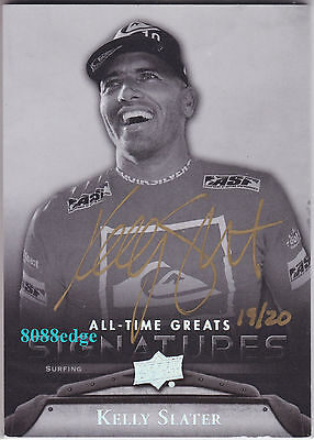 2012 All-Time Greats Auto #ks1: Kelly Slater #19/20 Autograph Greatest Surfer