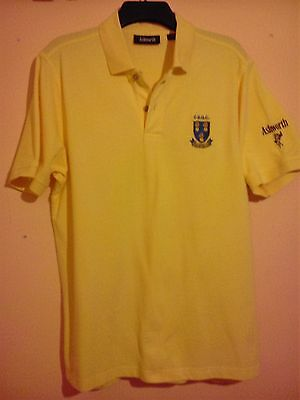 Cheshire Union Of Golf Clubs Light Yellow Polo Shirt Size M/large Ashworth Vgc