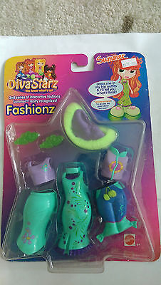 DIVA STARZ FASHIONZ - SUMMER ACCESSORIES INTERACTIVE! Mattel 2001 NEW IN BOX!