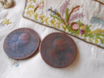 Two George III 1799 Pennies - Fine/Good Condition(H)