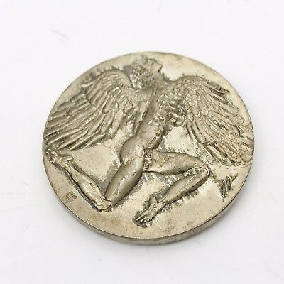 Antique Solid Silver 1972 Swiss Medal Erni Medal Artist Limited Award Coin