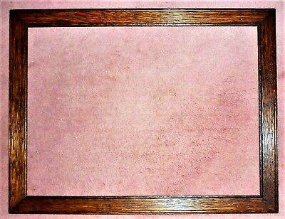 "Antique C1920's-1930's Stained & Polished Solid Oak Picture Frame: 18"" X 14"""