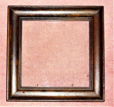 "Antique C1920's-30's Stained & Polished Wooden Photo/picture Frame: 8.5"" X 8.5"""
