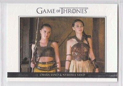 GAME OF THRONES SEASON SIX Relationships CARD DL34