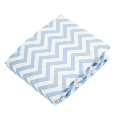 Kushies Playpen Fitted Sheet - Blue Chevron