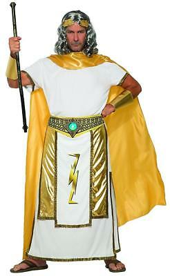 Zeus Greek God Thunder Roman Myth Olympus Jupiter Fancy Dress Halloween Costume