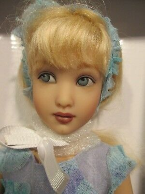 "HELEN KISH "" LARK ""  Turning Teal , 15 in. tall . 1 of  25  Rare Doll"