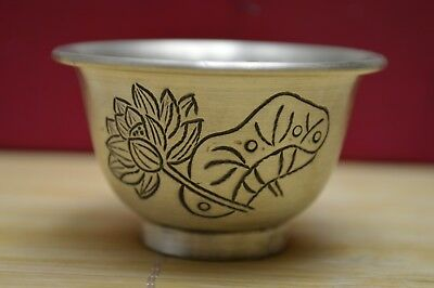37 gram Purity S999 Fine Solid Silver Hand Made Lotus Cup Hallmarked
