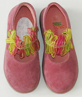 Naturino Italy Pink Suede Leather Mary Jane Shoes Toddler 8 M NWT