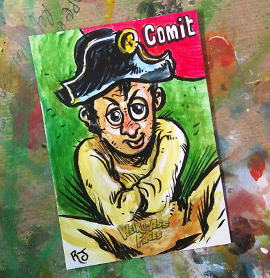 Wacky Packages PSC Painted Sketch Card Original Art 1/1 COMIT