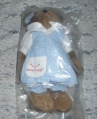 "New Boyds The Head Bean Collection Unwrap A Smile ""little Debbie"" Bear"