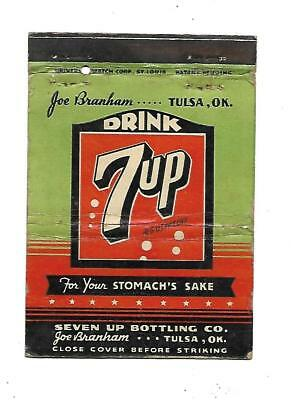 7up Matchcover   Seven Up Bottling Co. Tulsa, Oklahoma  Joe Branham