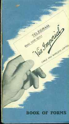 CABLE AND WIRELESS LIMITED 1939 Book of Forms (England) advertising booklet
