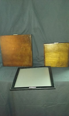 Set of Chart O Projector Mirrors with Screen. Used vintage optometrist