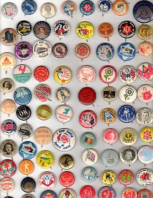 80 collectable  tin  badges