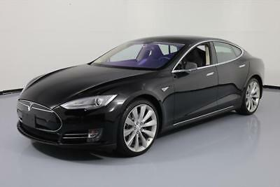 2014 Tesla Model S  2014 TESLA MODEL S 85 TECH PANO ROOF HTD LEATHER NAV 6K #P41619 Texas Direct