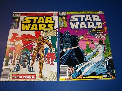 Star Wars #47,48 Bronze age lot of 2 VF to NM Gems Droids