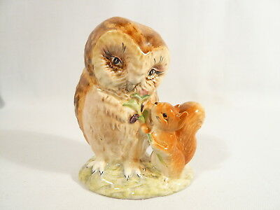 BP2 a Beatrix Potter Figurine Beswick OLD MR BROWN  Gold Oval