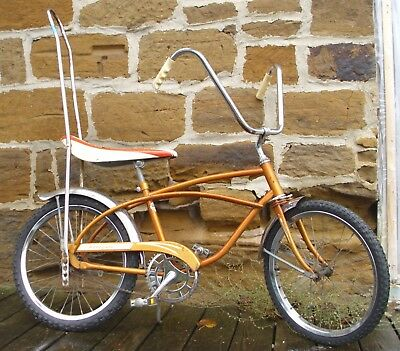 AMF ROADMASTER RENEGADE MUSCLE BICYCLE IN GOLD WITH LARGE SISSY BAR 1960s SHARP