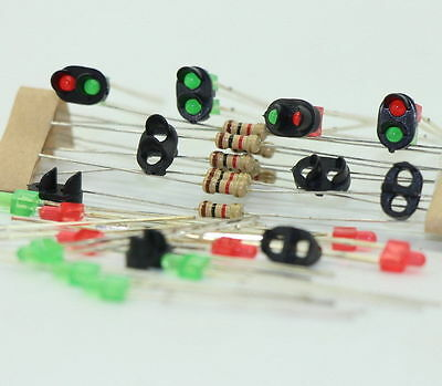 JTD12 10 sets Target Faces With LEDs for Railway signal N or Z Scale 2 Aspects