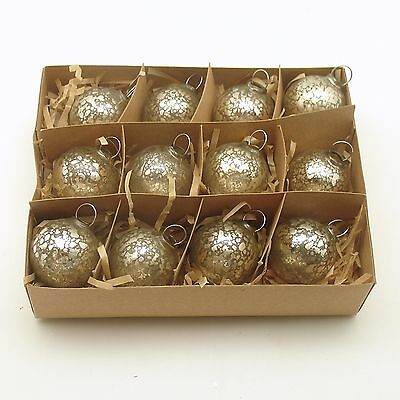 Glass Christmas Ornaments Small Silver Ornaments Bethany Lowe