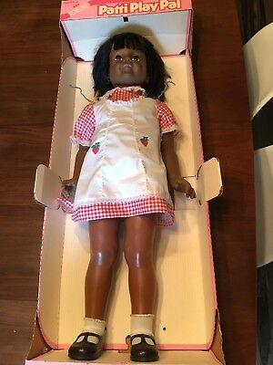 Patty Playpal Doll African American Black Gingham Dress 1981 Ideal Open Box