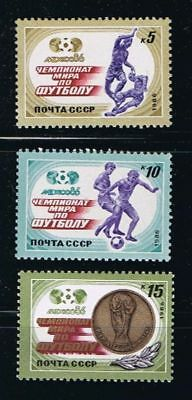 SOCCER Mexico - RUSSIA MNH 1986 Sc 5463-5465 Mi 5612-5614 Complete Set of 3