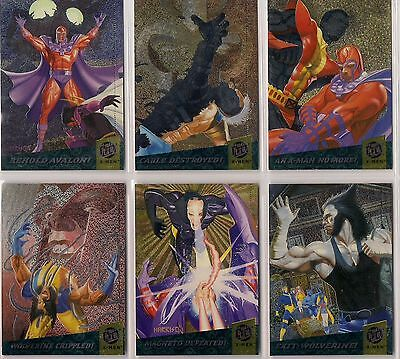 1994 FLEER ULTRA X-MEN Fatal Attractions INSERT/CHASE 6 Card Set nm/MINT