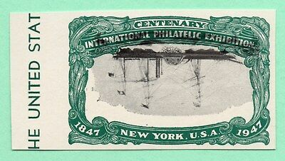 Inverted Error / Centenary International Philatelic Exhibition / Old US Stamp
