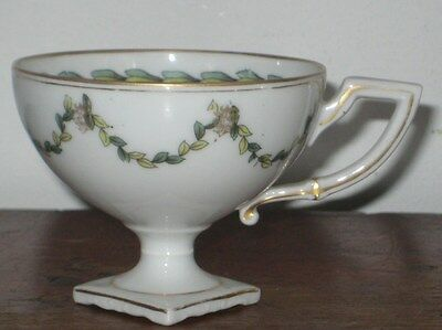 Unusual Fine Porcelain Pedestal Cup Possibly A Sample Piece Cir 19Th Century