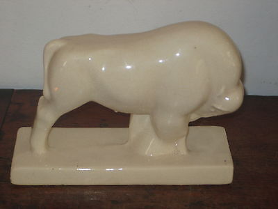 Fine French Art Deco Crackleglaze Bull