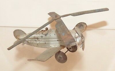 AP07 unusual, unmarked tin Gyro copter / plane. 108mm wingspan