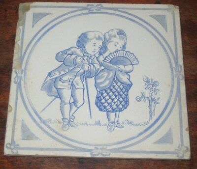 Unusual Copeland Children Tile Tofts Playing No 3 Circ 1880S Comical