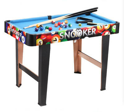 A02 Blue Wooden Kids Children Billiard Pool Toy Home Simulation Practice Table