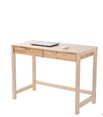 A19 Home Decoration Furniture  Drawer Pine Solid Wood Computer Laptop Table